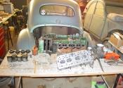 Gordini 4CV en cours de préparation